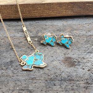 Texas Necklace & Earrings